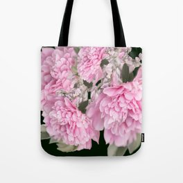 Pink Bouquet On A Black Background  #society6 #buyart Tote Bag