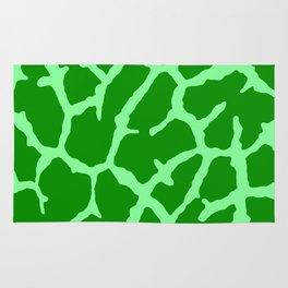 Green Giraffe Print Rug