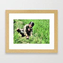 rIcE wOrK Framed Art Print