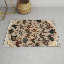 Poultry of the world Affiche Rug