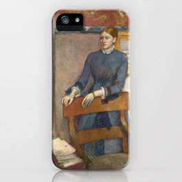 Helene Rouart in her Father's Study by Edgar Degas iPhone Case