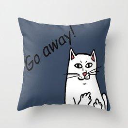 Naughty Cat Throw Pillow