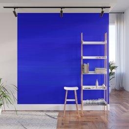 Solid Cobalt Blue - Brush Texture Wall Mural