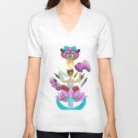 random V-neck T-shirts featuring random by StraySheep