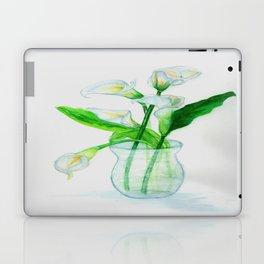 White Calla Lilies Laptop & iPad Skin