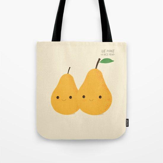 We make a nice pear Tote Bag