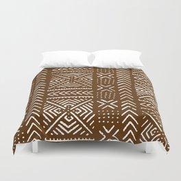 Line Mud Cloth // Brown Duvet Cover