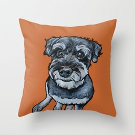 Frankie the Schnoodle Throw Pillow