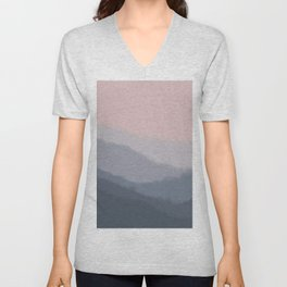 mountain mural Unisex V-Neck