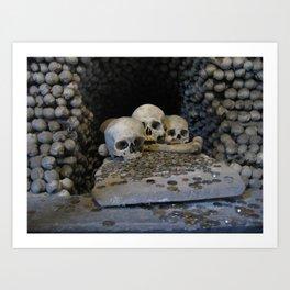 Skulls & Coins Art Print