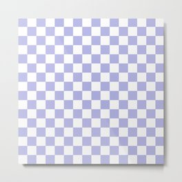 Gingham Soft Lavender Blush Checked Pattern Metal Print
