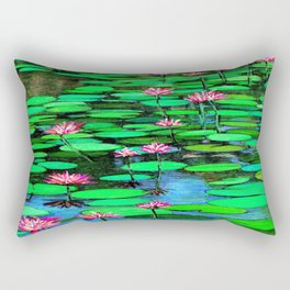 Homage to Ponds, Lilies and Lily Pads Rectangular Pillow