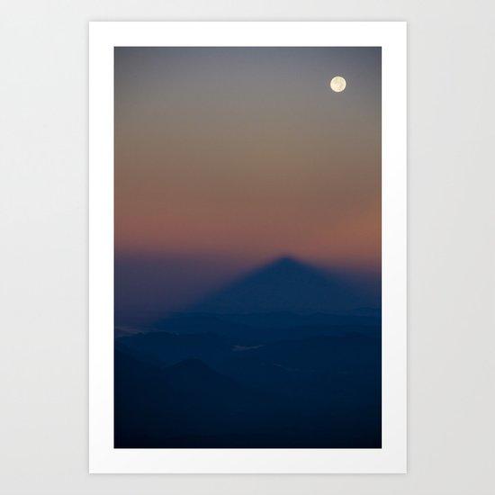 The Mountain Shadow Art Print