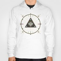 Hoodies featuring Evil Eye Mandala – Black by Cat Coquillette