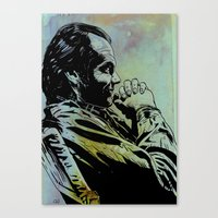 jack nicholson Canvas Prints featuring Jack Nicholson by Giuseppe Cristiano