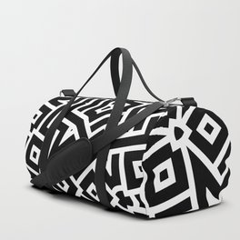 City plan, abstract bw Duffle Bag