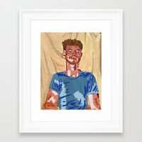 mac Framed Art Prints featuring Mac by Probably Plaid