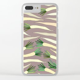 Daikon Radish Carrot Roots Clear iPhone Case