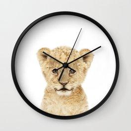 Baby Lion Cub Portrait Wall Clock
