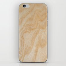Unique rotary birch yellow wood design iPhone Skin