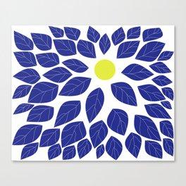 moon leaves Canvas Print