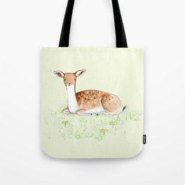 Happy Fallow Deer Tote Bag