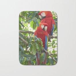 Colorful Macaw Couple Bath Mat