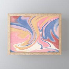 Pastel Colored Marble Framed Mini Art Print