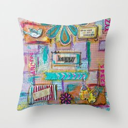 Colorful quilt Throw Pillow