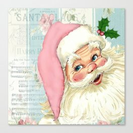 Retro Santa with music Canvas Print
