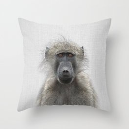 Baboon - Colorful Throw Pillow