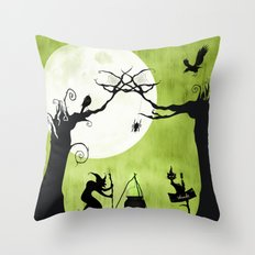 A Witch in The Woods Throw Pillow