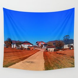 Peaceful countryside village scenery | landscape photography Wall Tapestry