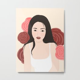 Rosy cheeks girl Metal Print