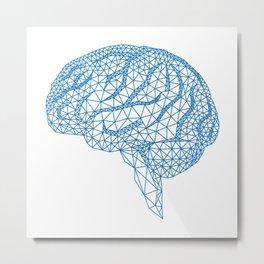 blue human brain Metal Print