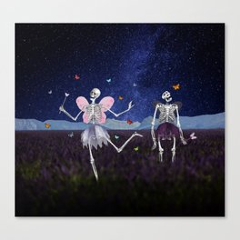 Death Fairy and her helper Canvas Print