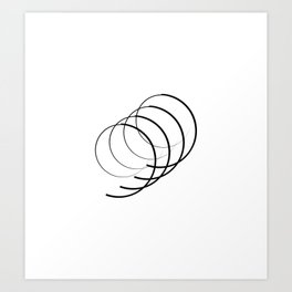 """ Eclipse Collection"" - Minimal Number Nine Print Art Print"