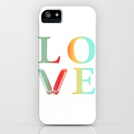 Love harmonica gift blues harp musicians iPhone Case