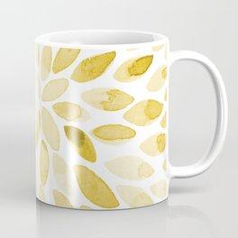 Watercolor brush strokes - yellow Coffee Mug