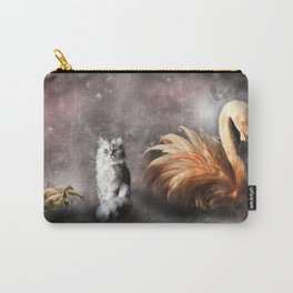 Flamingo, Cat and Geese Carry-All Pouch