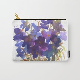 Petite Violets Carry-All Pouch