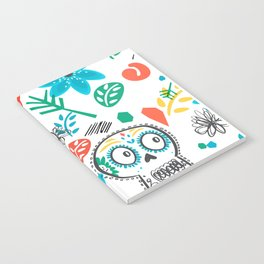 Summer sugar skulls Notebook