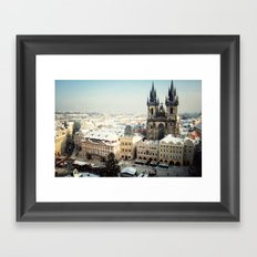 Prague, Czech Republic Christmas Market Framed Art Print
