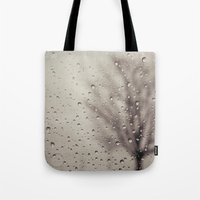 rain Tote Bags featuring Rain  by Laura Ruth