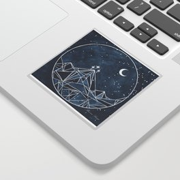 Night Court moon and stars Sticker