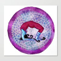 yoga Canvas Prints featuring yoga by Abraxas (luciana cabane)