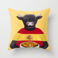 spanish Throw Pillows featuring The Spanish by Dano77