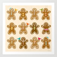 ginger Art Prints featuring Ginger by Kakel