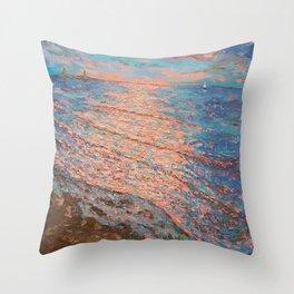 Sundown Good Harbor Throw Pillow
