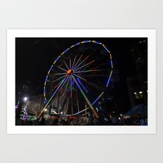 New Year's Eve Ferris Wheel Art Print